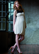 Attesa Black and Cream Maternity Dress