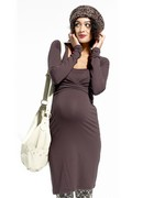 Brown Maternity Dress
