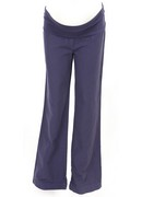 Purple Linen Maternity Trousers