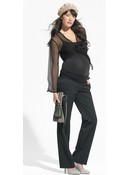 Black Maternity Lisbon Trousers