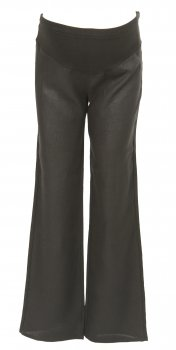 Black Linen Maternity Trousers