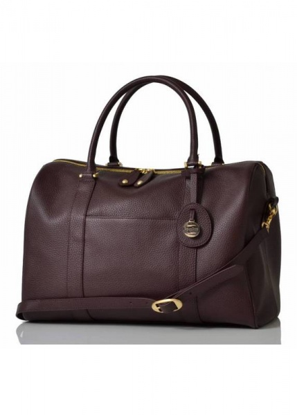 PacaPod Firenze Claret Leather Changing Bag