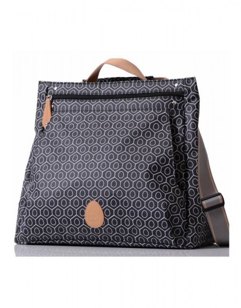 Pacapod Lewis Changing bag black tile