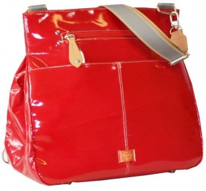 PacaPod Oban Changing Bag in Patent Red