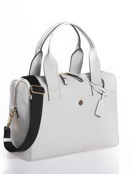Jem + Bea Amber  changing bag in Grey White