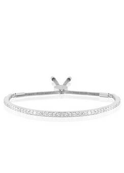 Joma Jewellery Silver crystal silver Bangle