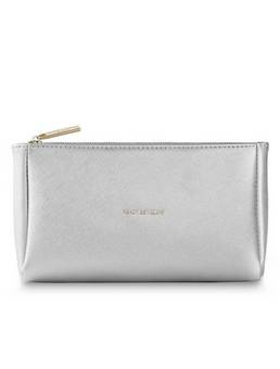 Katie Loxton Metallic Make-up bag silver