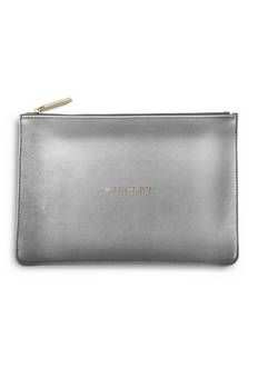 Katie Loxton Perfect Pouch in Metallic Charcoal
