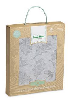 Little Green Sheep Leaf  Print Cot Bed Sheet