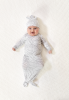 Aden + Anais knotted Gown and Hat Set Zebra