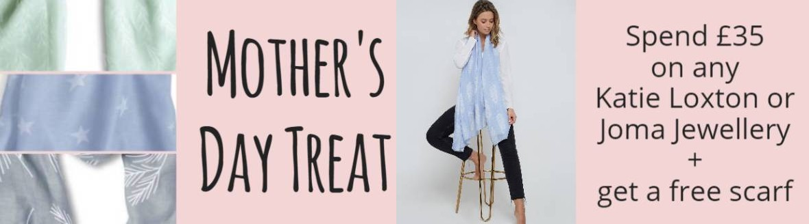 Katie Loxton mother's day offer banner