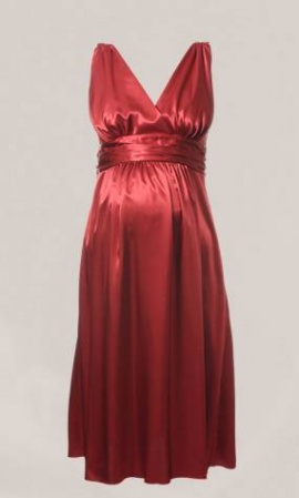 Ripe Satin Maternity Evening Dress Short Length
