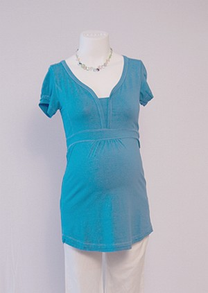 Blue Maternity Tshirt