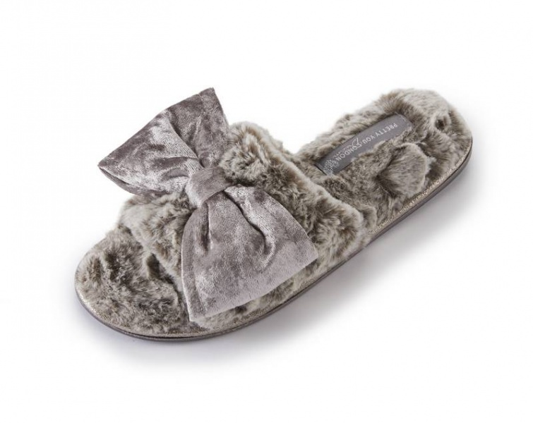 Pretty You  Amber Mink Slippers