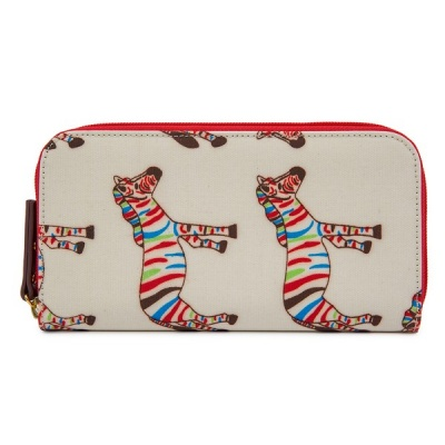 Pink Lining Wallet Zebra Crossing