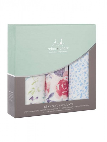 Aden + Anais silky soft Watercolour garden swaddles
