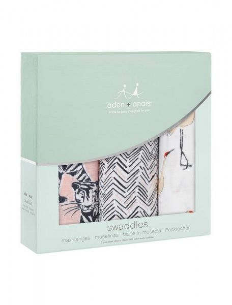 Aden + Anais 3 pack pacific paradise  swaddles