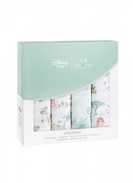 Aden + Anais Disney Lion King 4 pack swaddles