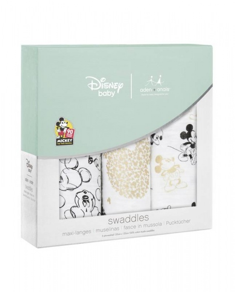 aden + anais Disney Mickey's 90th Birthday Swaddles
