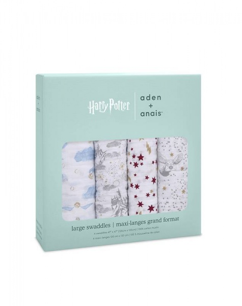 Aden + Anais Harry Potter 4 pack swaddles