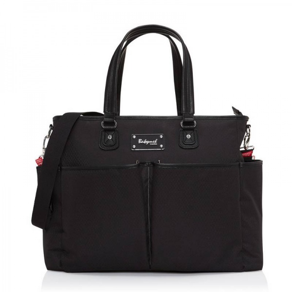 Babymel Bella textured Black changing bag