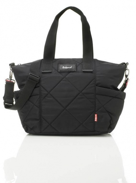 Babymel Evie quilted changing bag in Black
