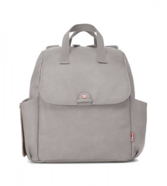 Babymel Robyn Pale Grey Faux Leather  Backpack changing bag