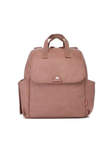 Babymel Robyn Pink Faux Leather  Backpack changing bag