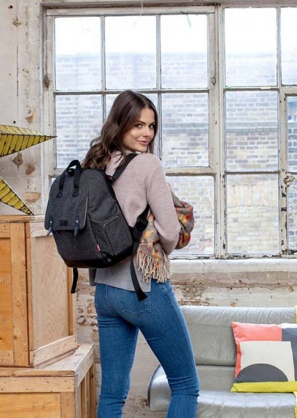 Babymel Robyn Backpack in Tweed