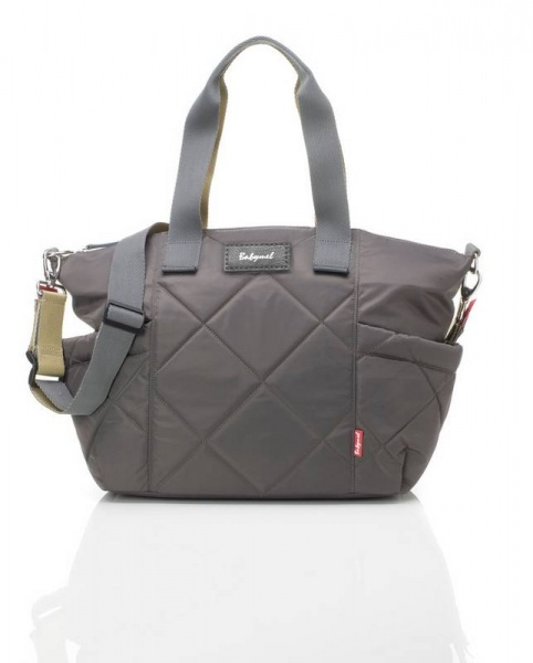 Babymel Evie quilted changing bag in Grey