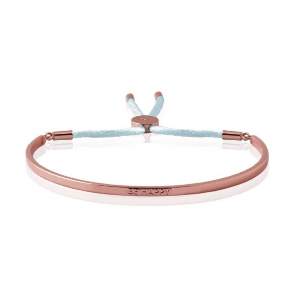 Joma Jewellery message bangle in Rose Gold