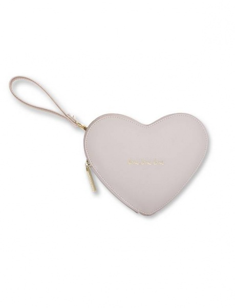 Katie Loxton Love Heart Pouch in Beige