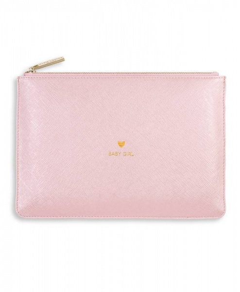 Katie Loxton Perfect Pouch in Metallic Pink
