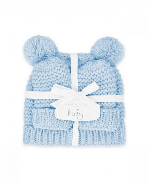 Katie Loxton Baby Hat and Mittens Blue