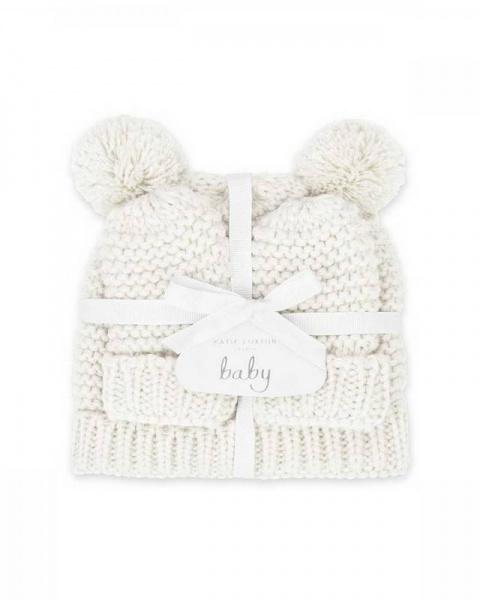 Katie Loxton Baby Hat and Mittens White