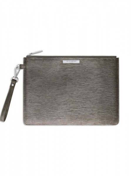 Katie Loxton Metallic Mocha Clutch bag