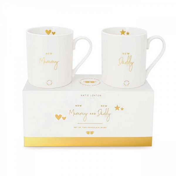 Katie Loxton Mummy and Daddy Mug Gift set