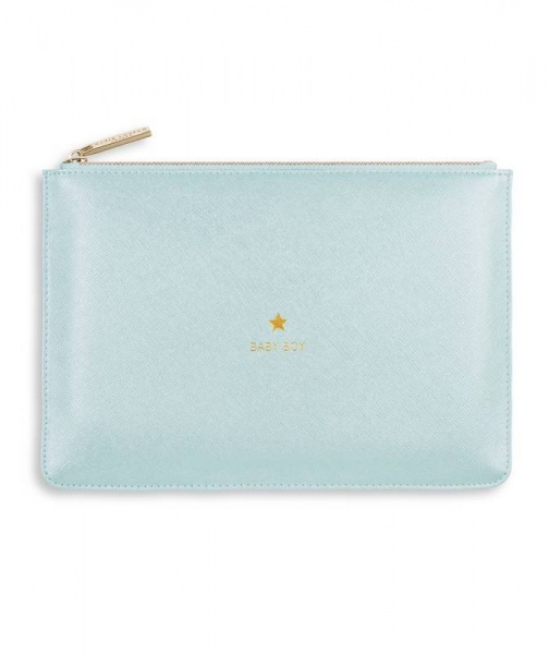 Katie Loxton Perfect Pouch in Metallic Blue