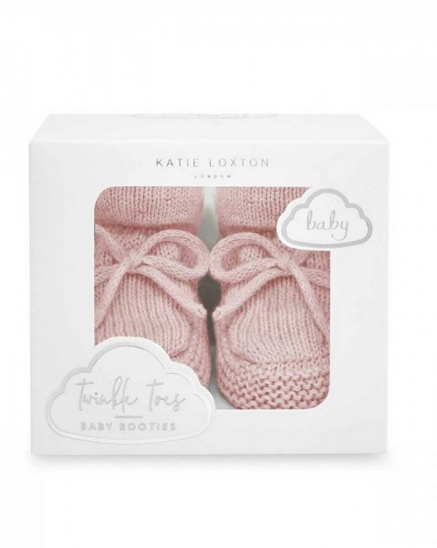 Katie Loxton Knitted Baby Boots Pink