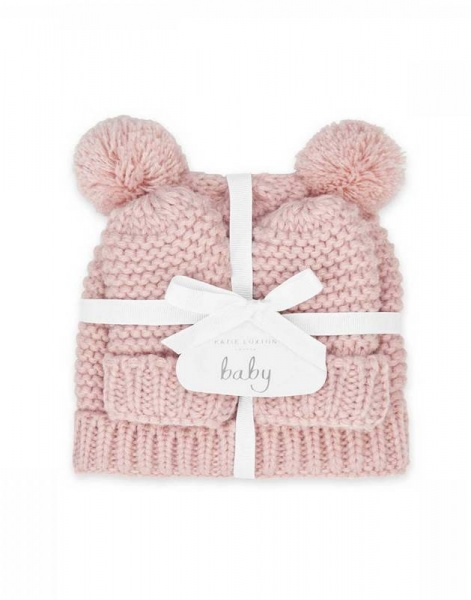 Katie Loxton Baby Hat and Mittens Pink