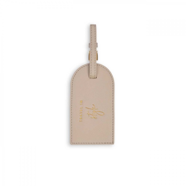 Katie Loxton Luggage Tag  Taupe
