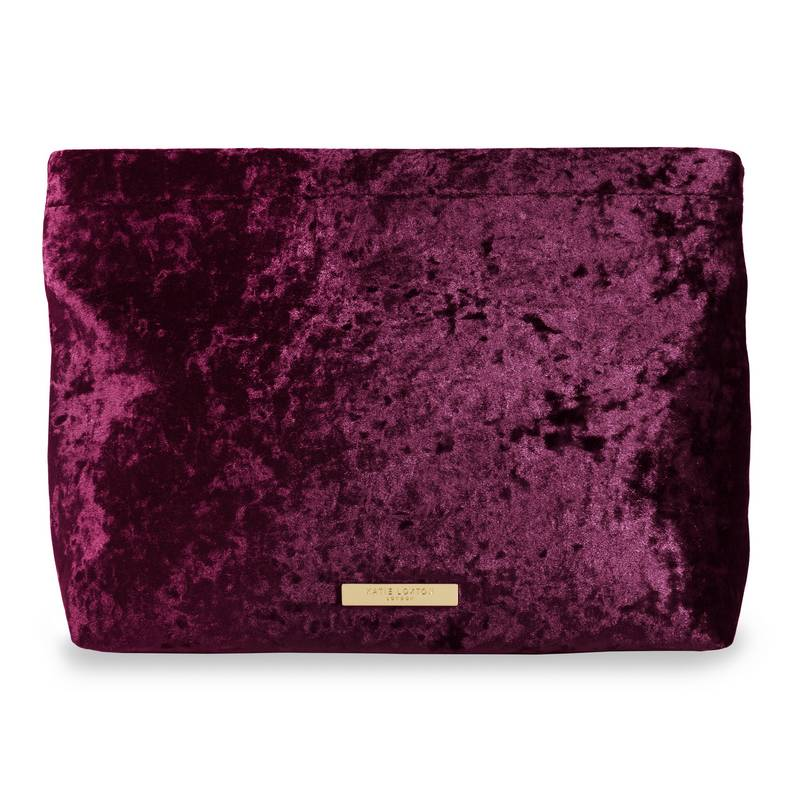 Katie Loxton Valentina crushed berry clutch