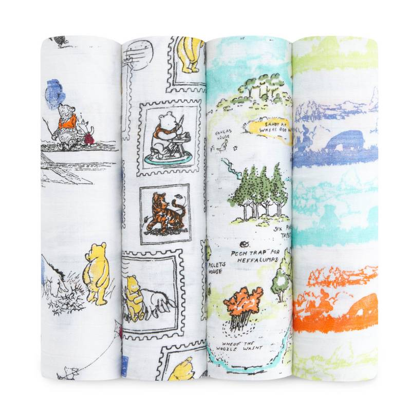 Aden Anais Disney Winnie The Pooh 4 Pack Swaddle