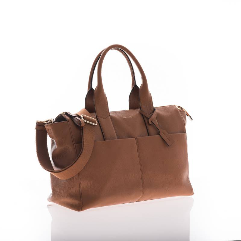 Jem + Bea Jemima Changing bag in tan - Mummy & Little Me