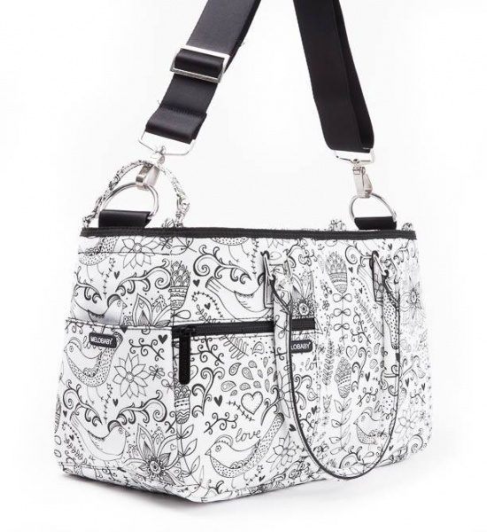 Melotote Love Black and White Changing bag