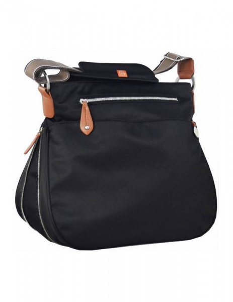 PacaPod Black Portland Baby Changing Bag