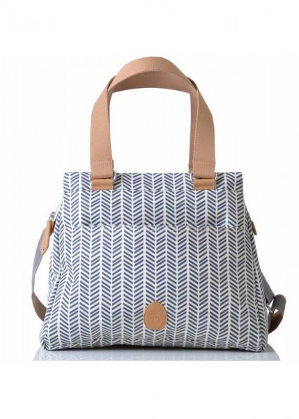 Pacapod Richmond Changing bag in Navy Herringbone