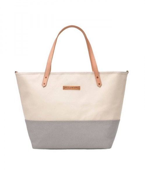 Petunia Pickle Bottom Downtown Tote in Stone