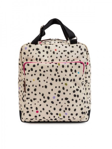Pink Lining Wonder Bag Dalmatian baby changing