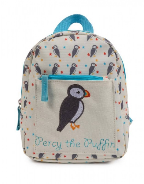 Pink Lining Child Mini Rucksack Percy the Puffin